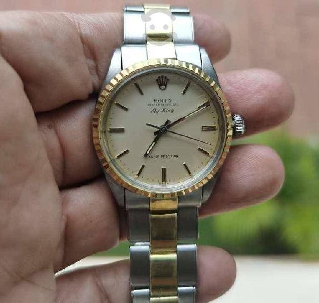 Rolex air king automatico acero /oro