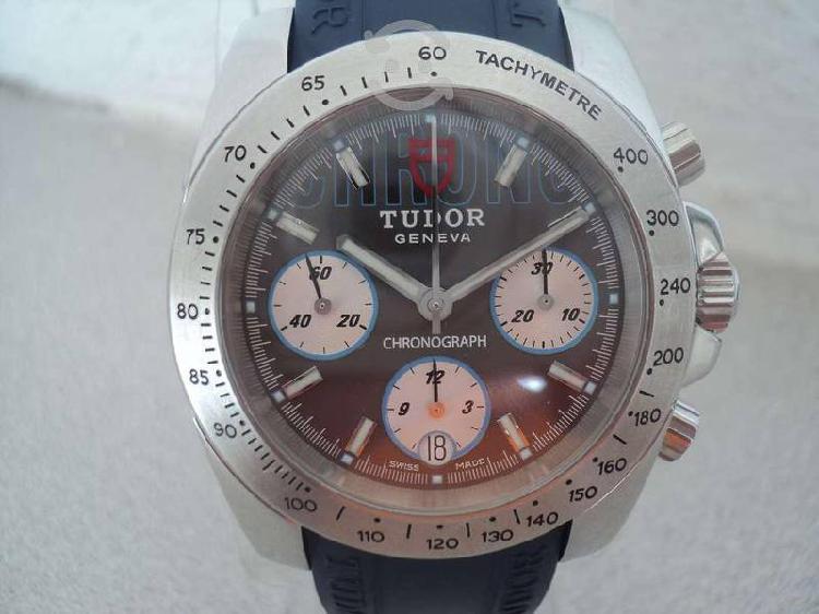 Tudor sport chronograph automatico acero / caucho