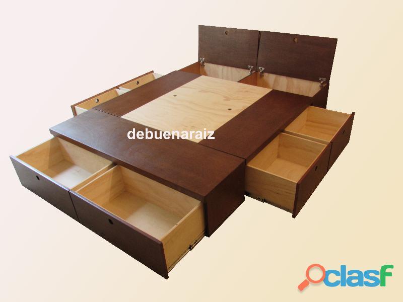 Base para cama con cajones matrimonial queen king size