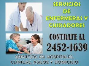 Cuidadoras y enfermeras servicios a domicilio