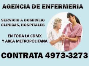 Cuidadores y aux. de enfermeria a domicilio y en hospitales