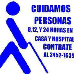 Cuidadores y enfermeras, servicios a domicilio y en
