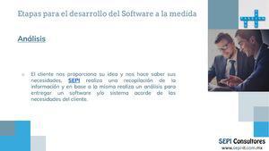 Desarrollo de software y/o sistemas a la medida