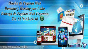 Diseño de paginas web economicas 5570632440 urgentes