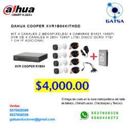 Dvr 4 canales dahua cooper xvr1b04kithdd