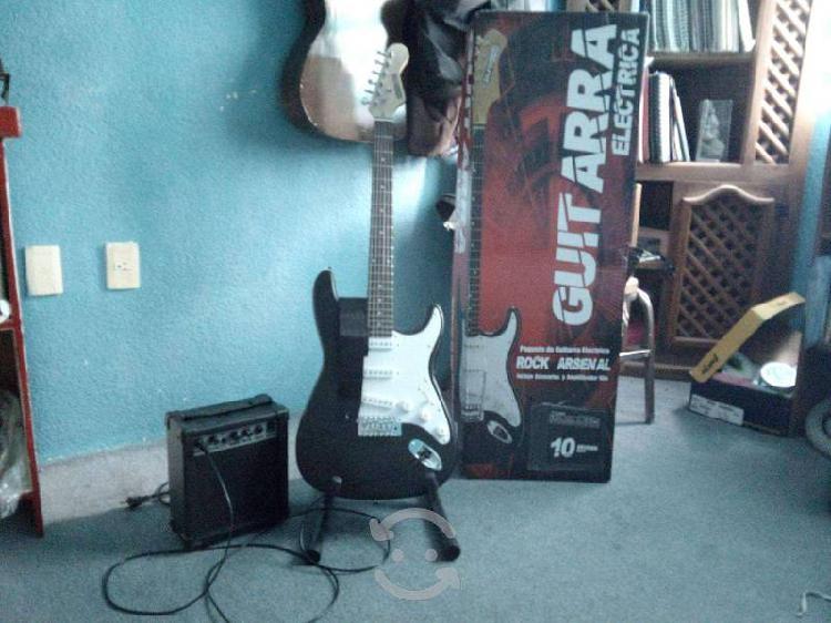 Guitarra eléctrica nueva¡incluye amplificador y ac