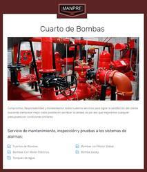 Servicios de mantenimiento de sistemas contra incendios