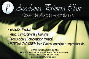 "Academia de musica ""primera clase"""