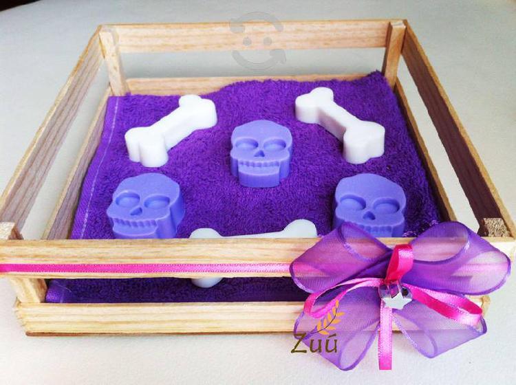 Caja jabones artesanales día de muertos halloween