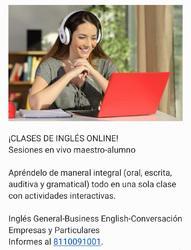 Clases inglés online y presencial (empresas y domicilio)