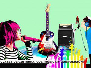 Clases de guitarra, canto, música y composición