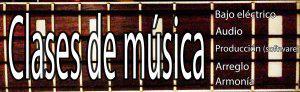 Clases de bajo eléctrico, música, producción
