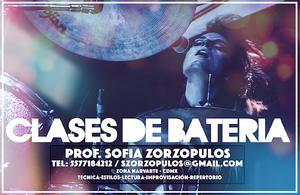Clases de batería prof. sofia z. (zona narvarte)