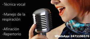 Clases de canto a domicilio, nezahualcoyotl y cdmx