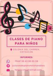 Clases de piano en coyoacán para niños