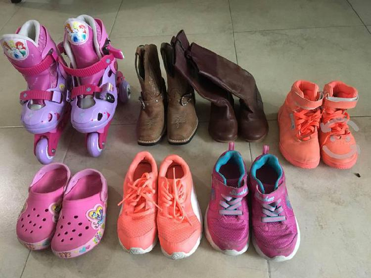 Lote zapatos de niña # 19 7 pares en 500$