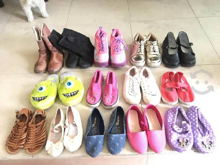 Lote zapatos de niña del # 15-20 en $500 16 pares