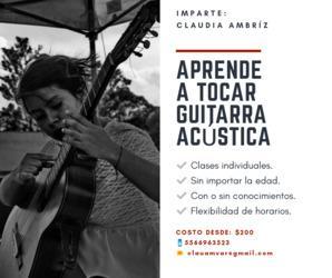 Quieres aprender a tocar guitarra acústica?