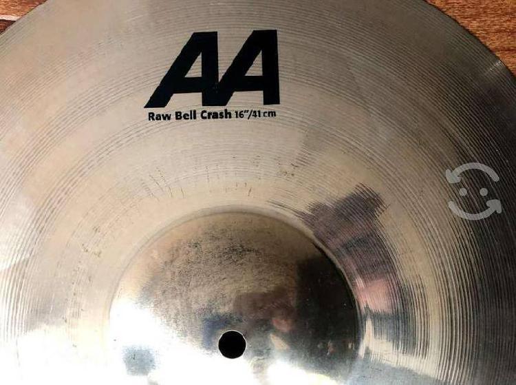 """Sabian crash 16"""" aa raw bell"""