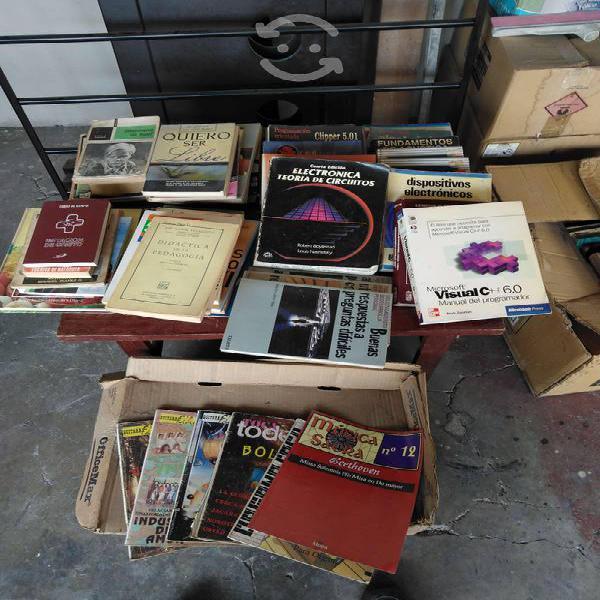 Lote 50 libros y revistas diferentes temas en muy