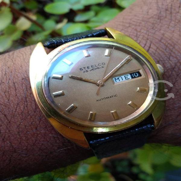 Reloj steelco vintage suizo automático