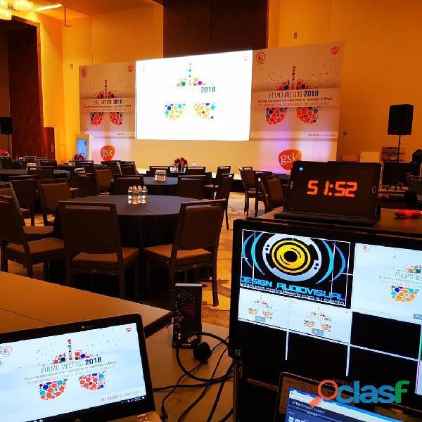 Renta de pantallas y audio para eventos