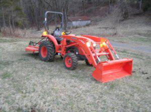 2011 kubota l3800 hst w/ trailer, loader, rotary cutter 4wd