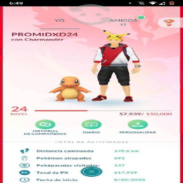Cuenta de pokemon go. level 24