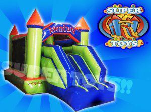 Inflable castillo con escaladora supertoys