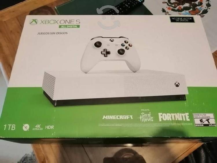 Xbox one s digital con 3 juegos (seminuevo)
