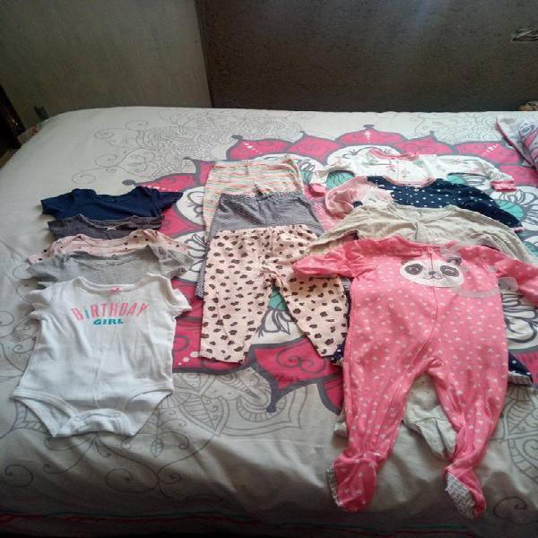 Lote de ropa marca carter's para nena de 12 meses