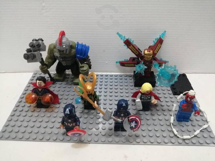 Vengadores tipo lego avengers nuevos con base