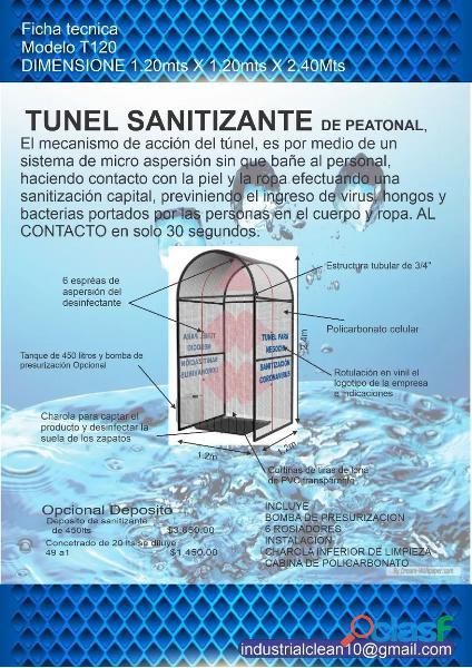 Alquiler de Cabina de sanitización 1