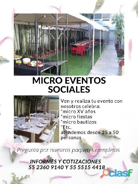 Micro eventos o micro bodas