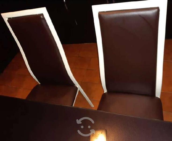 Antecomedor de 4 sillas cristal templado