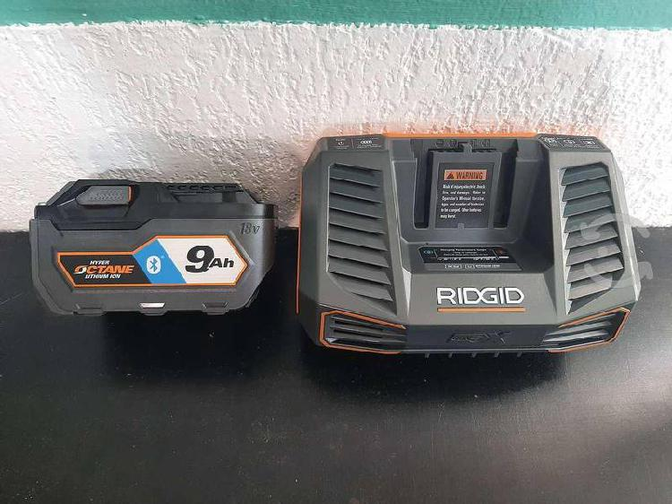 Kit cargador y bateria octane ridgid 18v 9ah