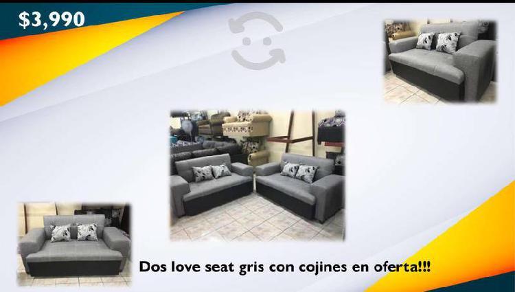 Sala de dos love seat