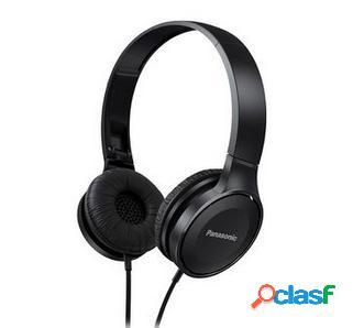 Panasonic audífonos rp-hf100e, alámbrico, 1.2 metros, 3.5mm, negro