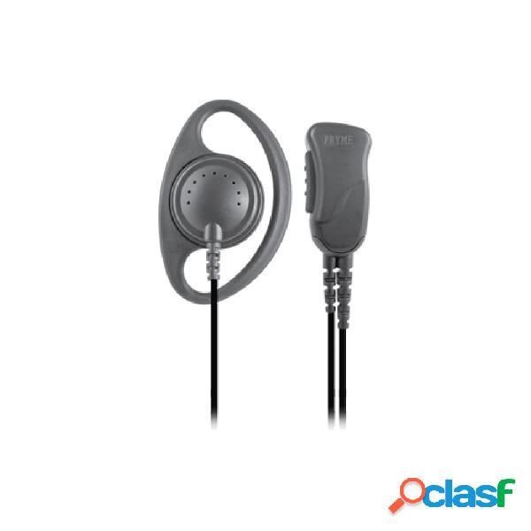 Pryme micrófono con solapa para radio spm-1223, negro, para motorola