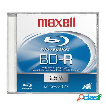 Maxell disco blu-ray, bd-r, 1x, 25gb, 1 disco