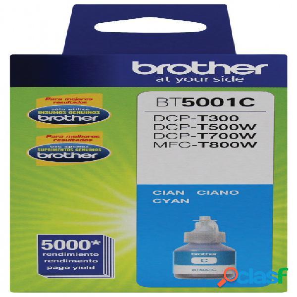 Tanque de tinta brother bt5001c cyan, 5000 páginas