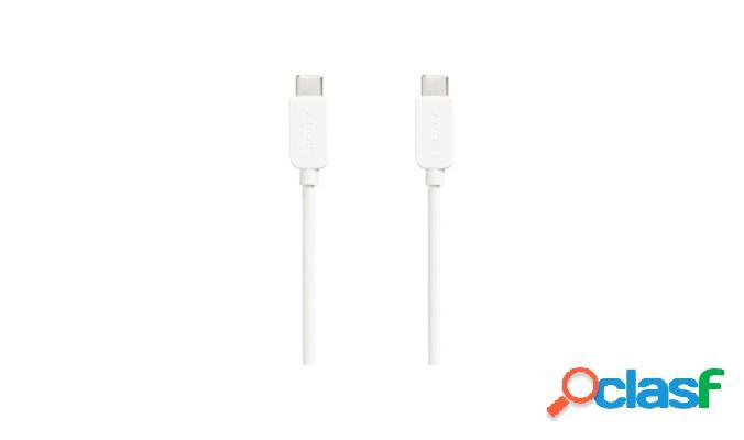 Sony cable usb c macho - usb c macho, 1 metro, blanco