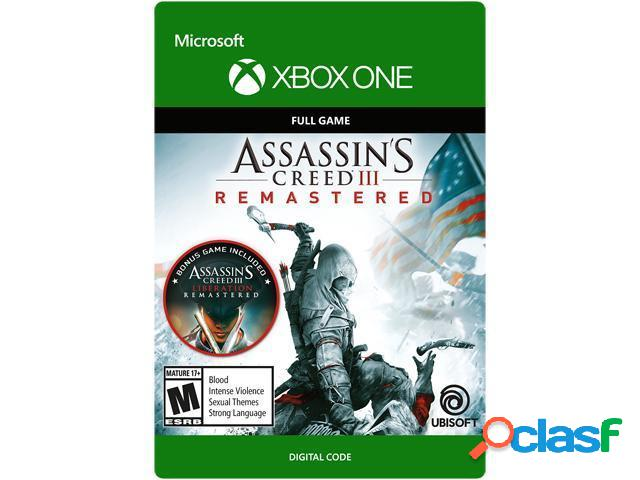 Assassin's creed iii: remastered, xbox one - producto digital descargable