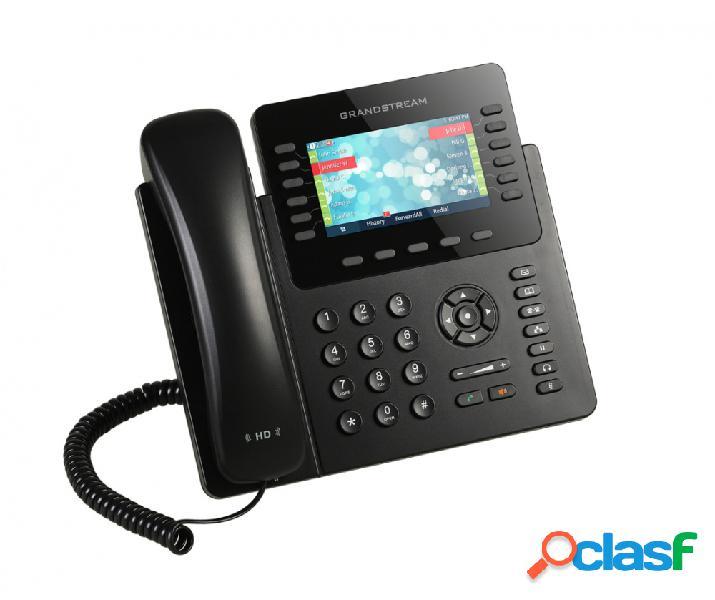 Grandstream teléfono ip con pantallas 4.3'' gxp2170, 12 líneas, 5 teclas programables, negro