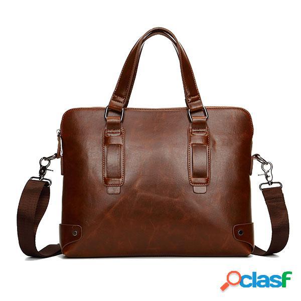 Vintage pu cuero negocio bolso crossbody bolsa de hombro para hombres