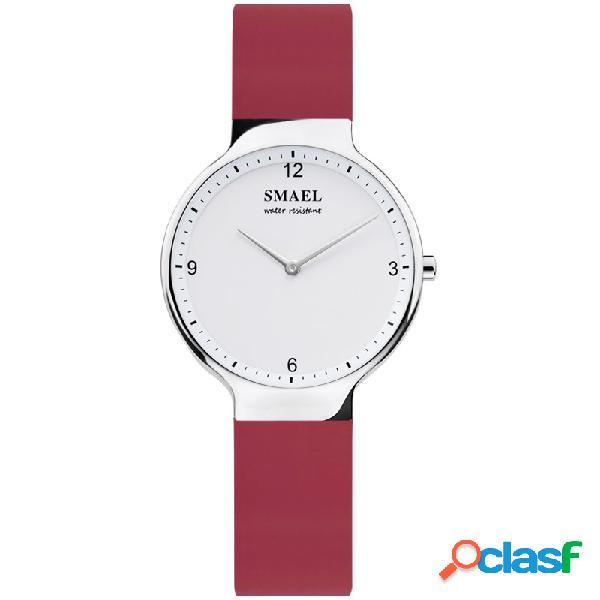 Moda cuarzo relojes de pulsera impermeable correa de cuero reloj simple casual ladies watch