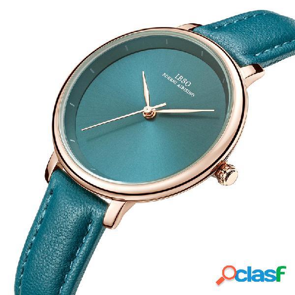 Simple diseño reloj de pulsera de cuarzo para hombre de negocios, estilo de negocios, cuero banda