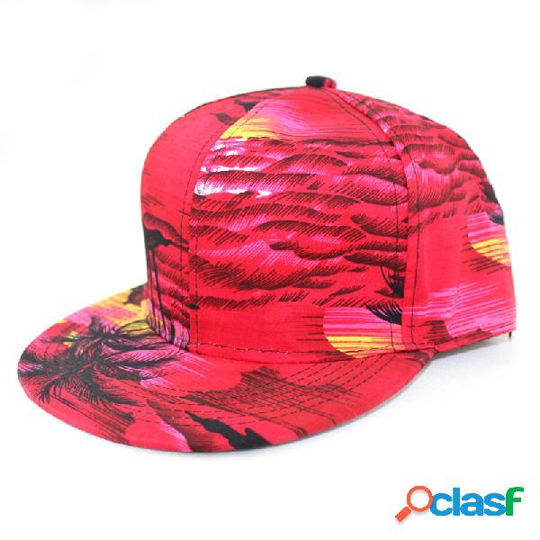 Coco tree playa gorra de béisbol wind seaside plana a lo largo de hip hop sombrero