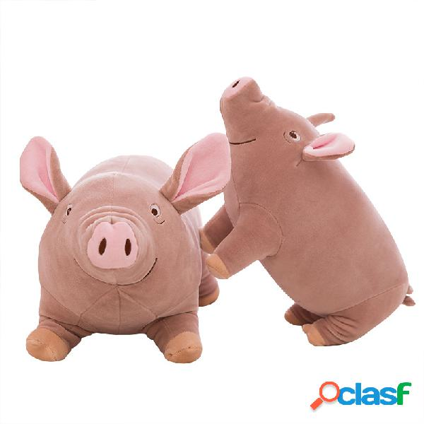 35 / 45cm cute pig pillow resilient velvet child gift toys down cotton stuffed pig cushion