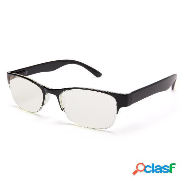 A prueba de blu-ray gafas de media llanta para hombre protege los ojos lectura duradera gafas